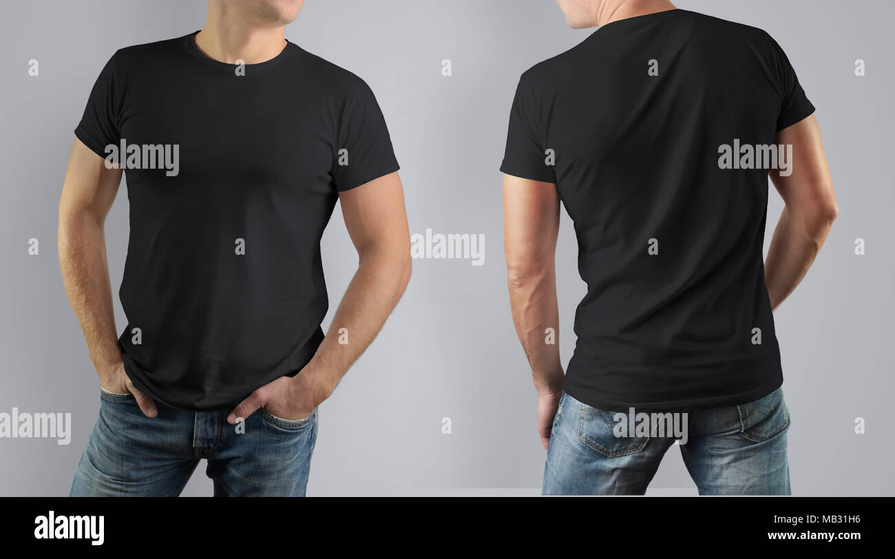 Excelente Plantillas De Camiseta Negra Inspiración - Ejemplo De ...
