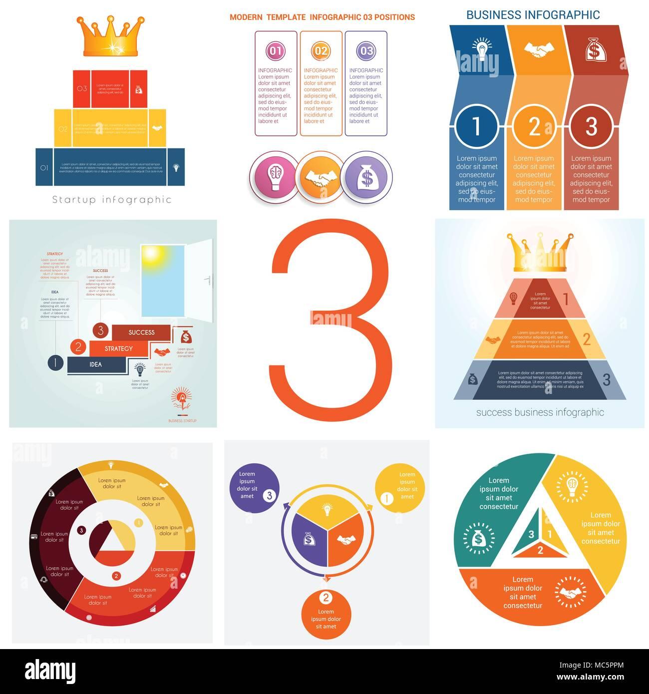 Establecer plantillas universal infografías elementos conceptuales ...