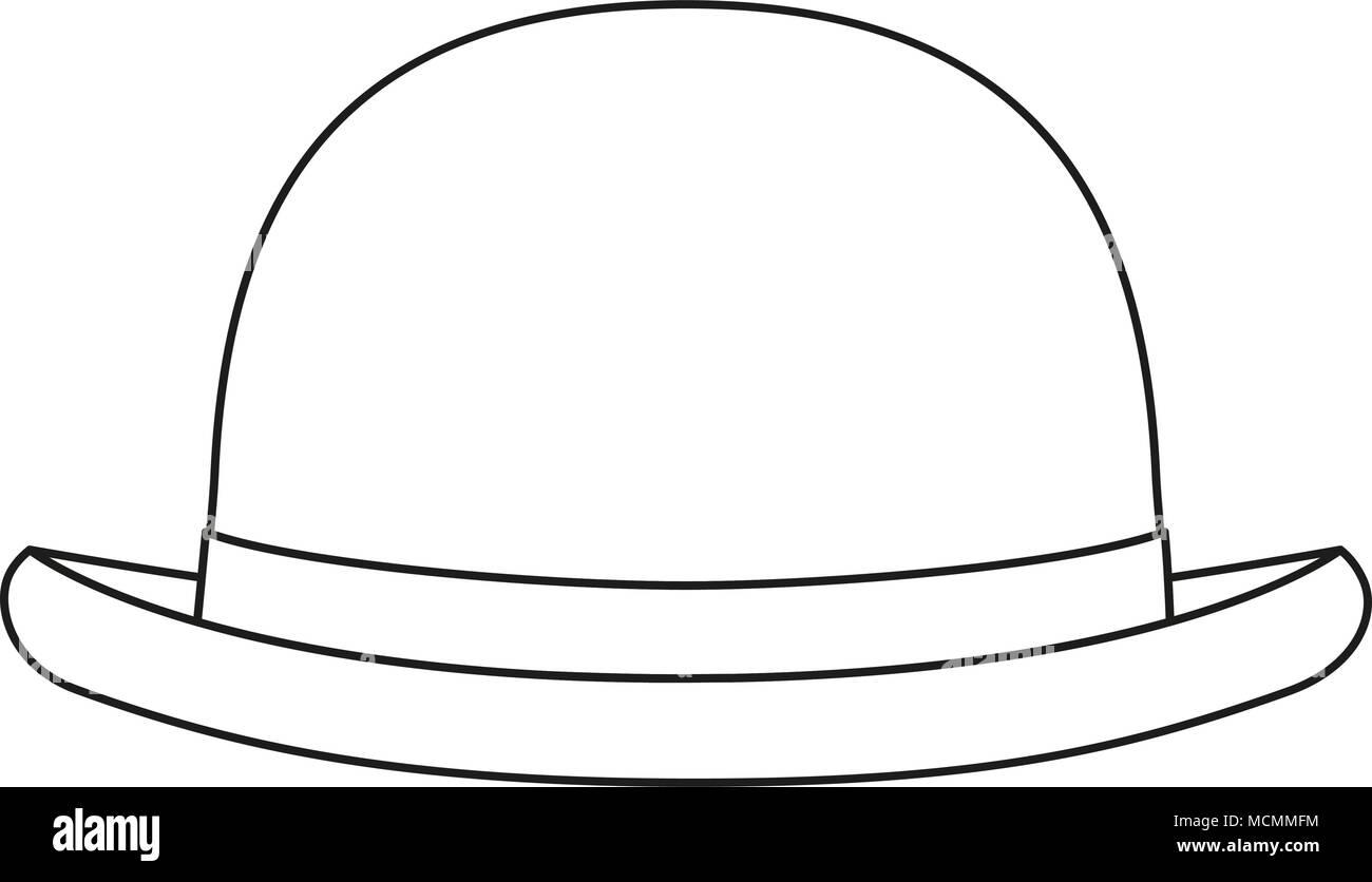 Arte de línea sombrero blanco y negro Ilustración del Vector 7d9eb199885