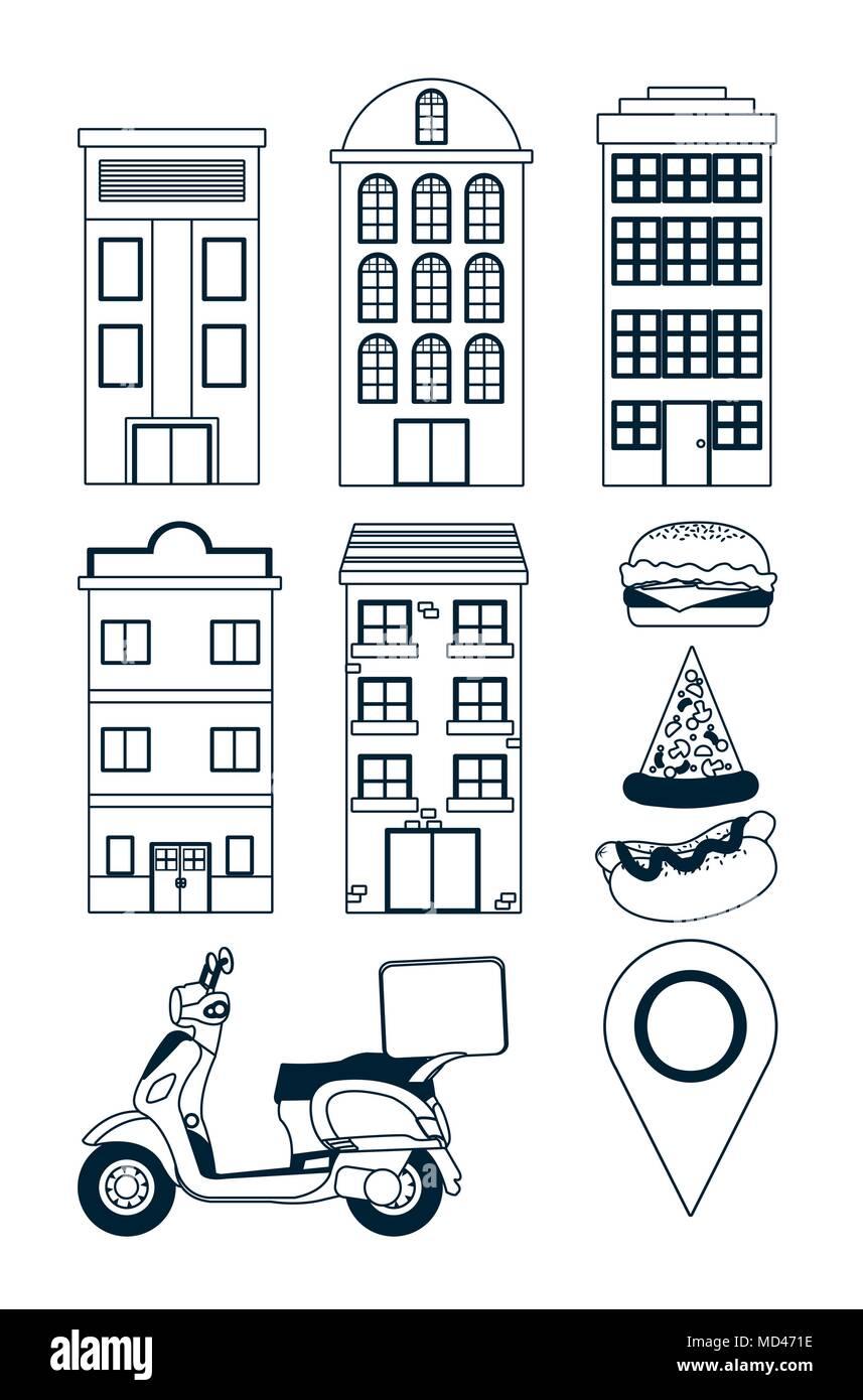 Asombroso Entrega De Pizza Para Colorear Colección - Dibujos Para ...
