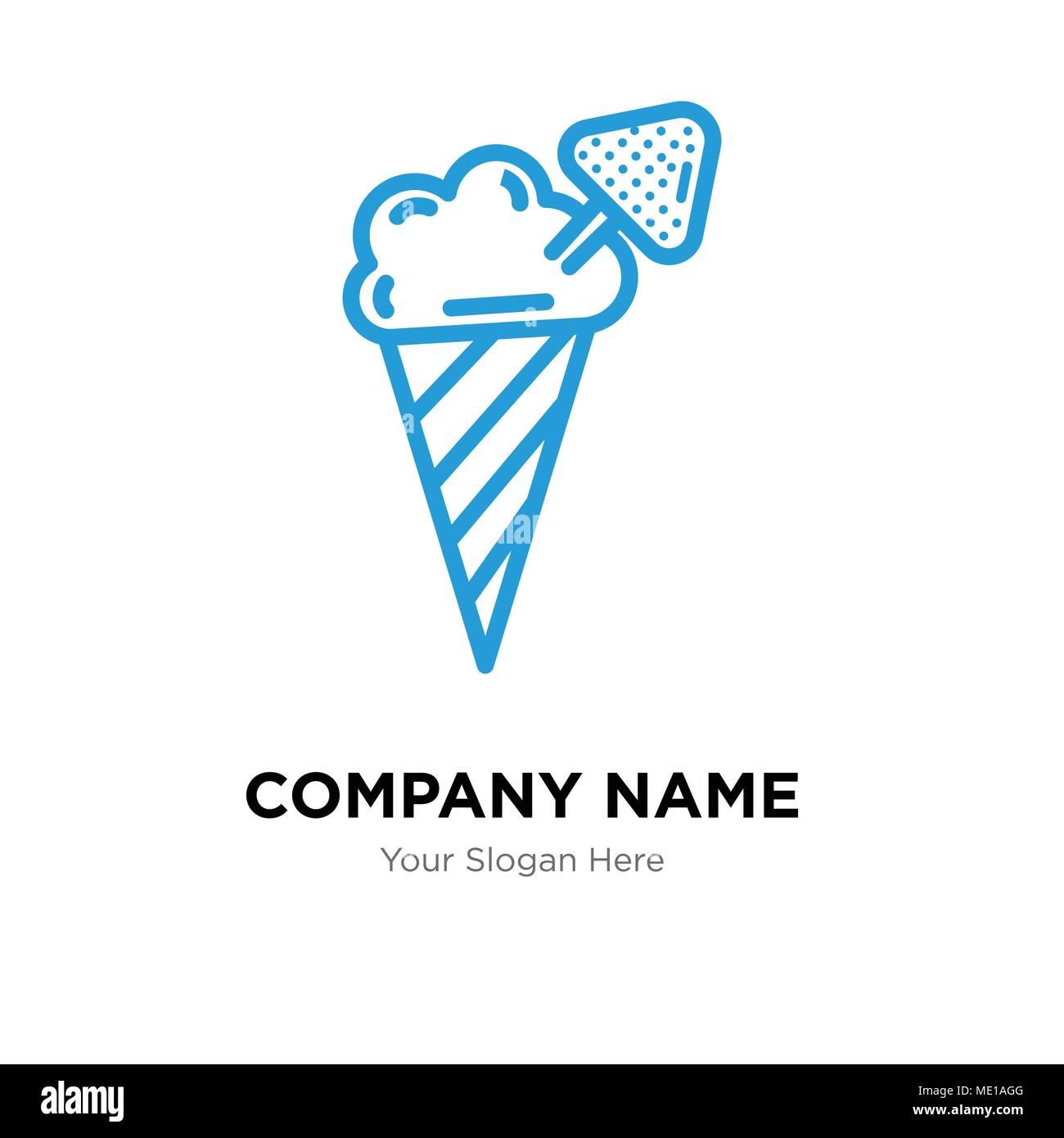 Helado de la plantilla de diseño del logotipo de la compañía, el ...