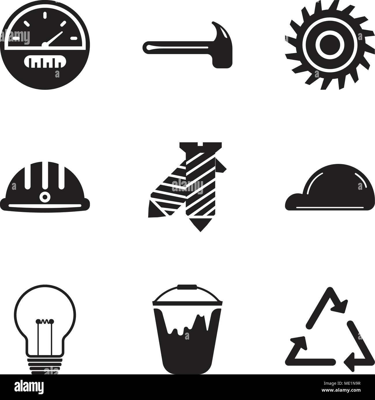 Conjunto de 9 sencillos iconos editables como triángulo d03281b5266