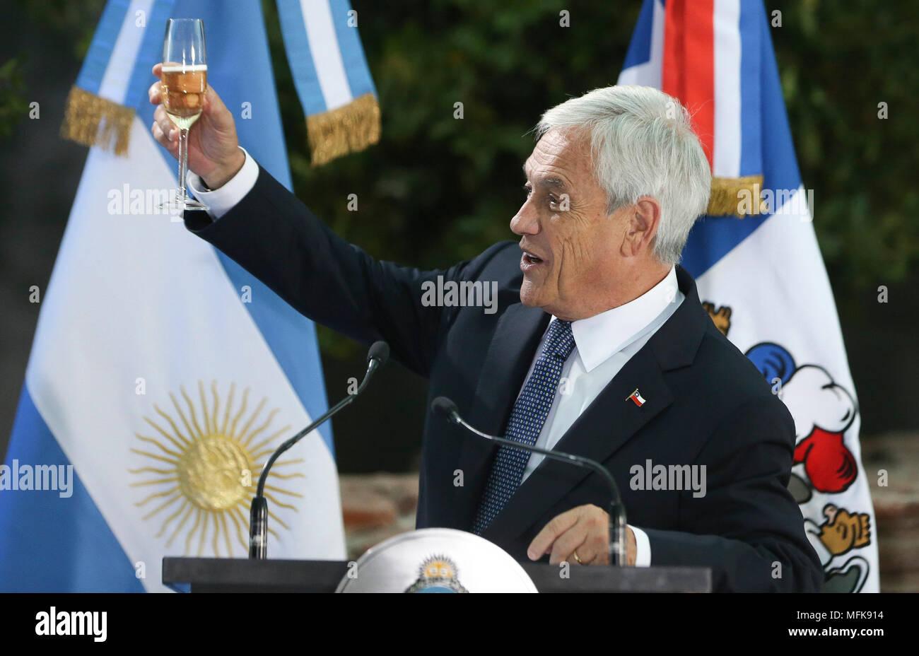La Ciudad de Buenos Aires, Argentina. 26 abr, 2018. El presidente ...
