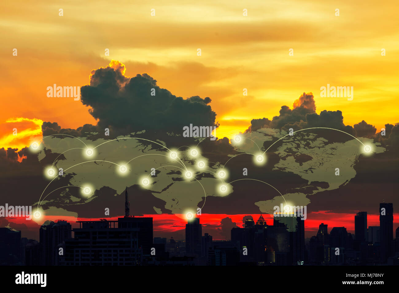 Internet map globe world lines imgenes de stock internet map comunicacin de conexin digital global el concepto de red social conexin de lneas y puntos gumiabroncs Choice Image