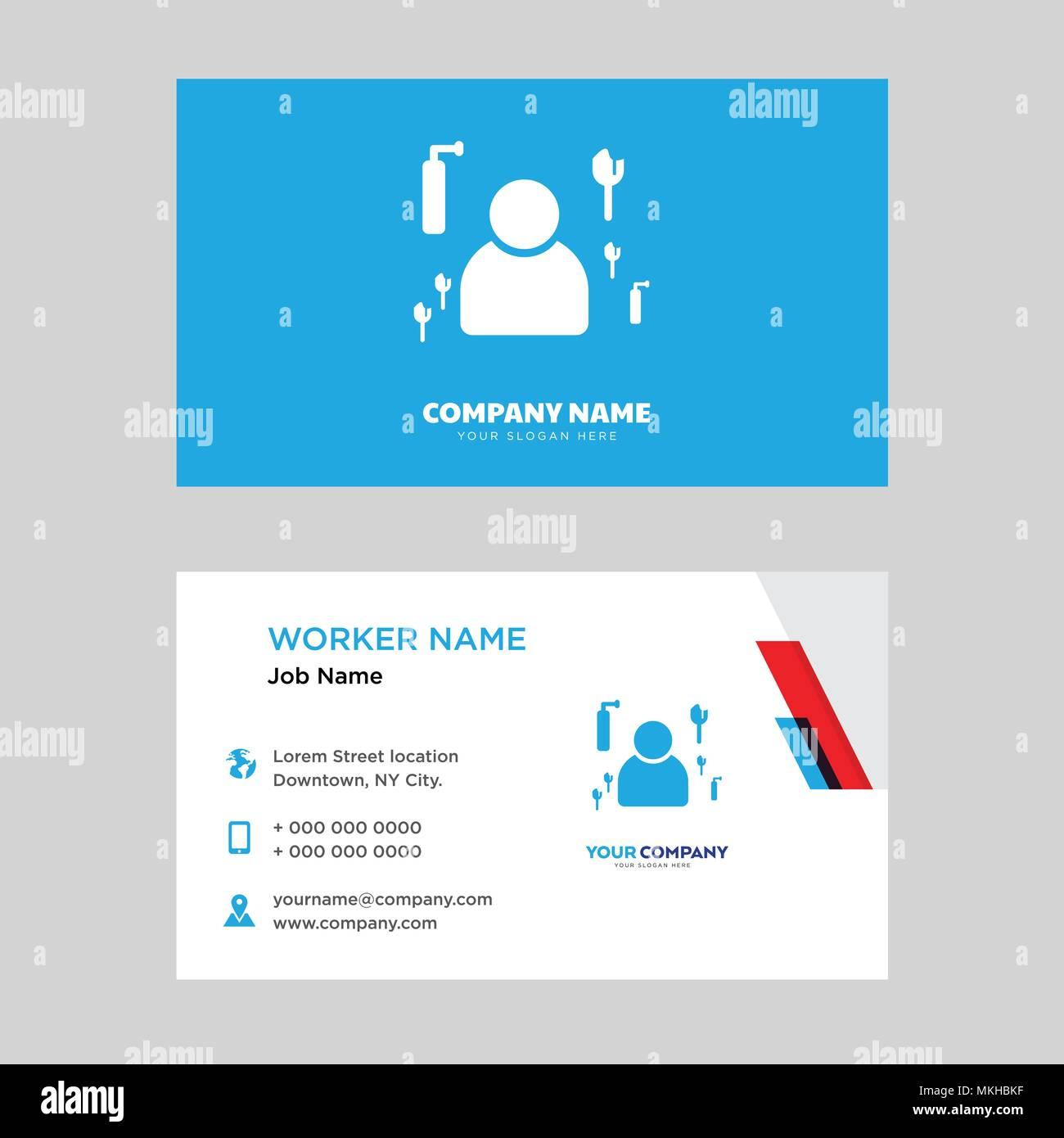 plantilla de diseño de tarjeta de negocios de limpieza visitando