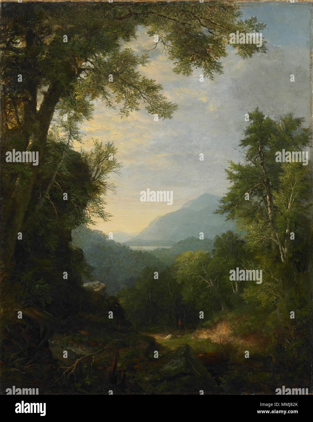 Inglés: Asher Brown Durand, Americana, 1796-1886 Paisaje, 1859 Óleo ...