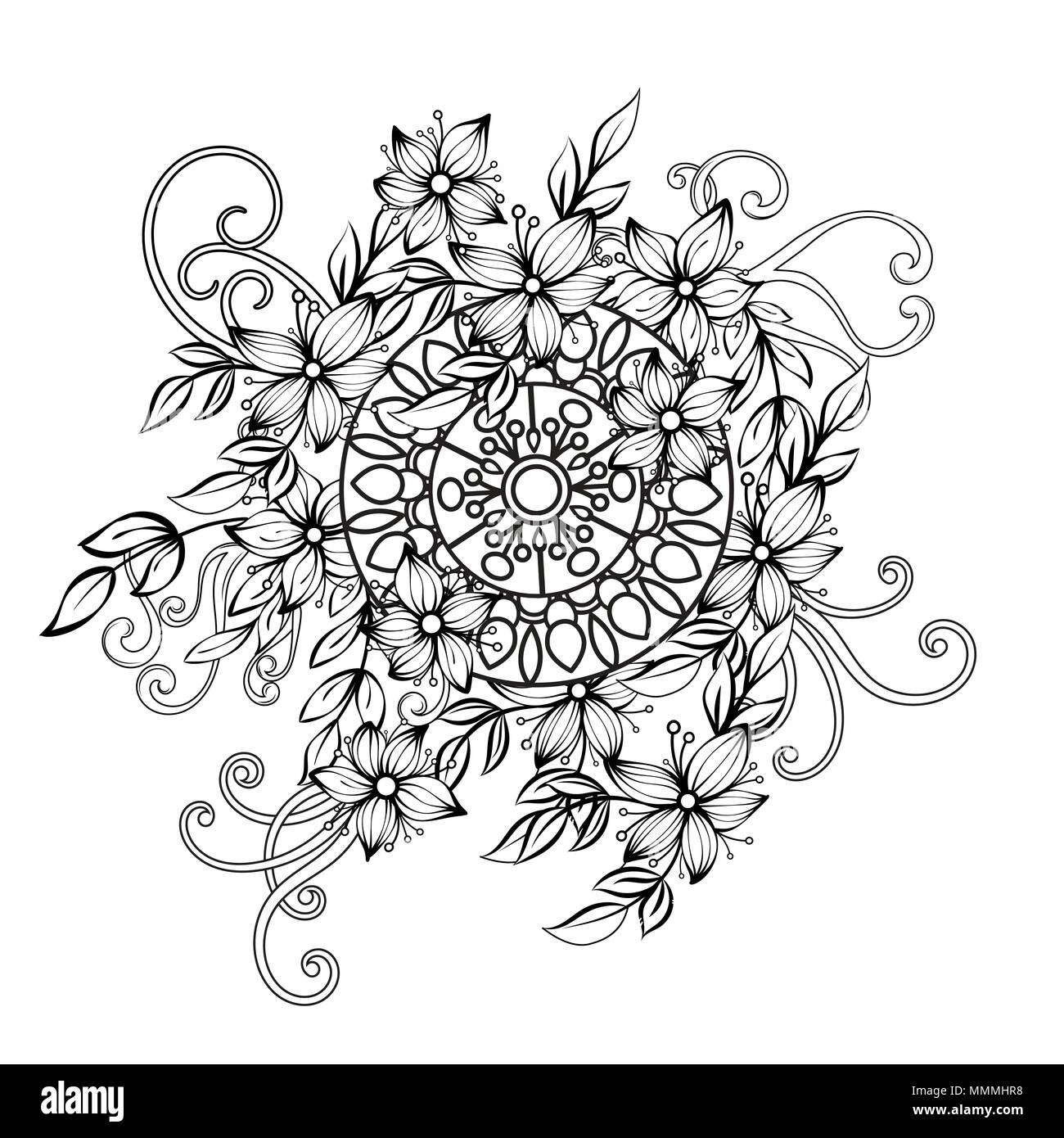 Lujoso Página Ovalada Para Colorear Ornamento - Dibujos Para ...