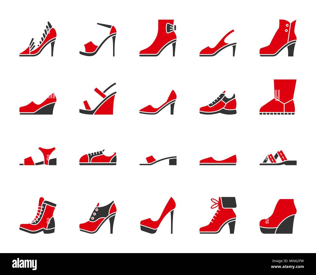 Pxqgf Blanco Signo Silueta Aislado Mujer Conjunto En De Zapatos Iconos 76mIgYbfyv