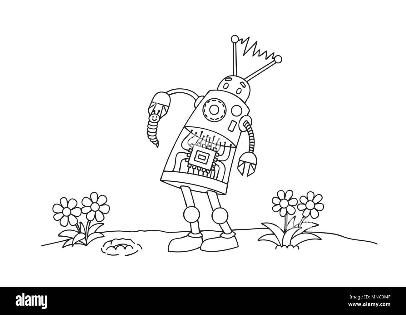 Excepcional Genial Robot Para Colorear Composición - Enmarcado Para ...
