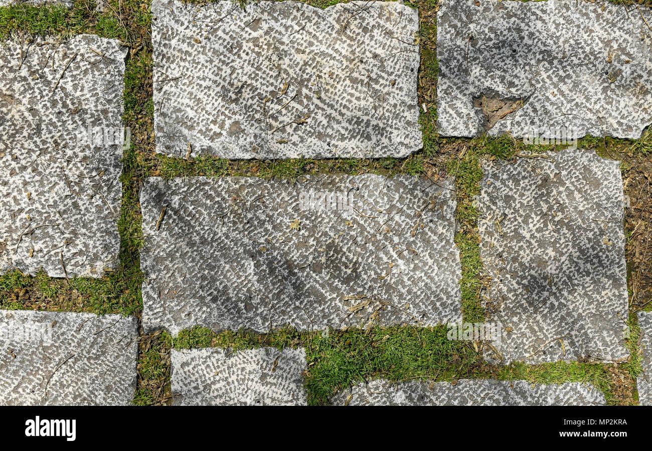 Fuera Del Casco Sucio Terraza Azulejos De Granito Imagen Del - Losas-de-exterior