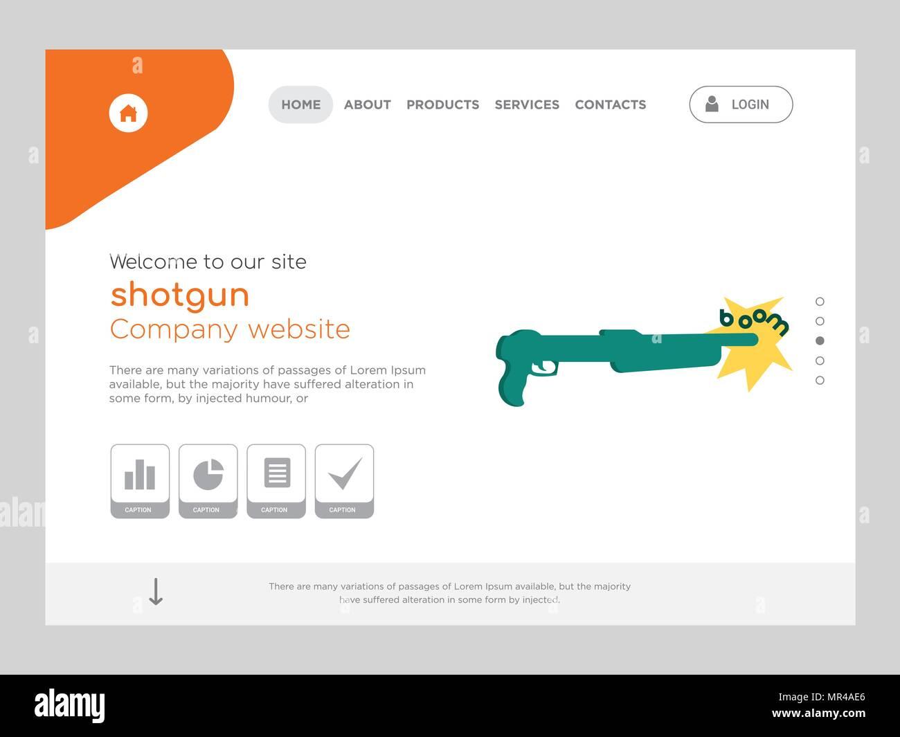 La calidad de una página Web de escopeta, Eps Vector Plantilla ...