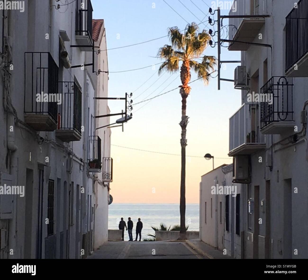 Puesta de sol mediterráneo Imagen De Stock