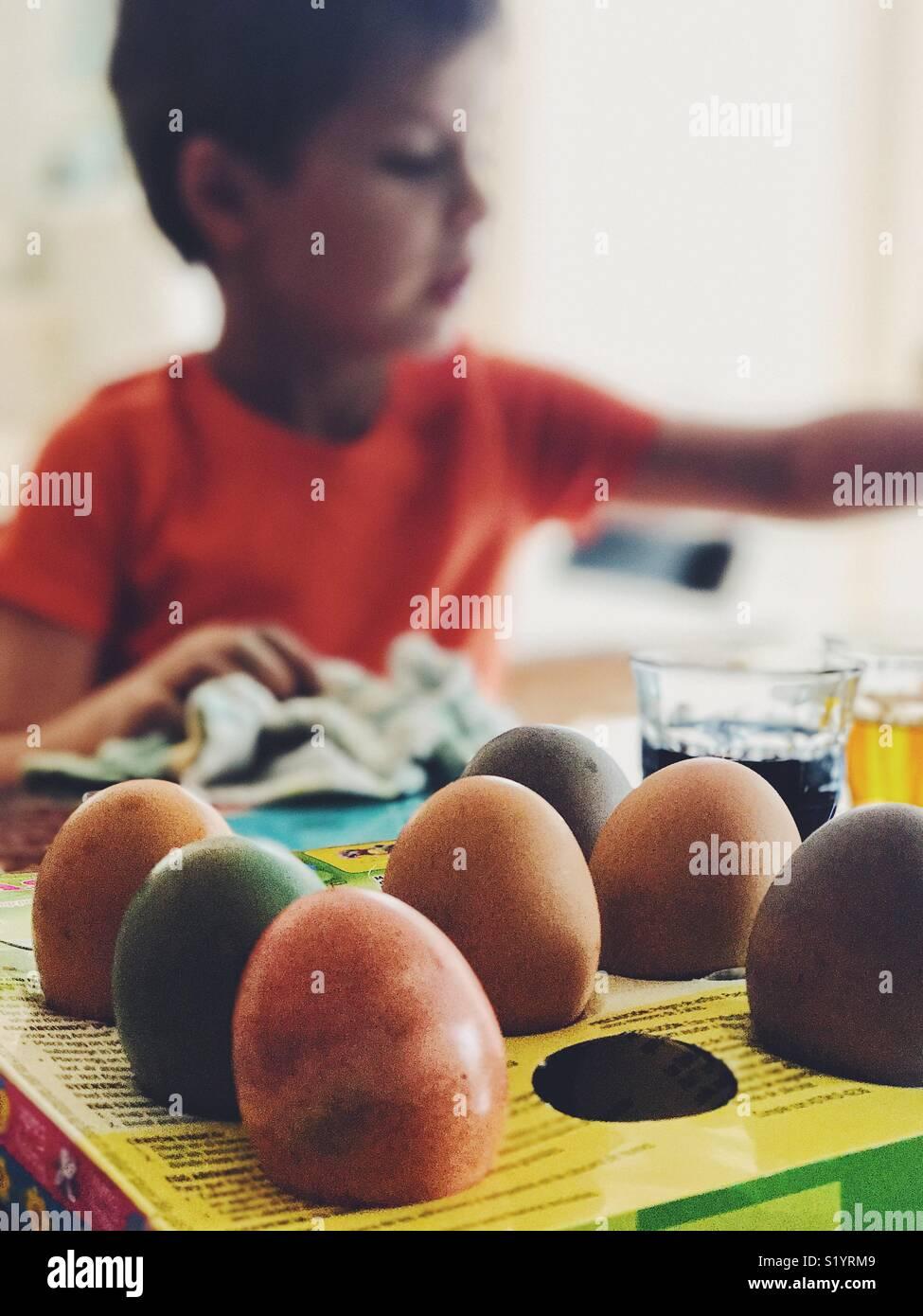 Huevos de Pascua Imagen De Stock