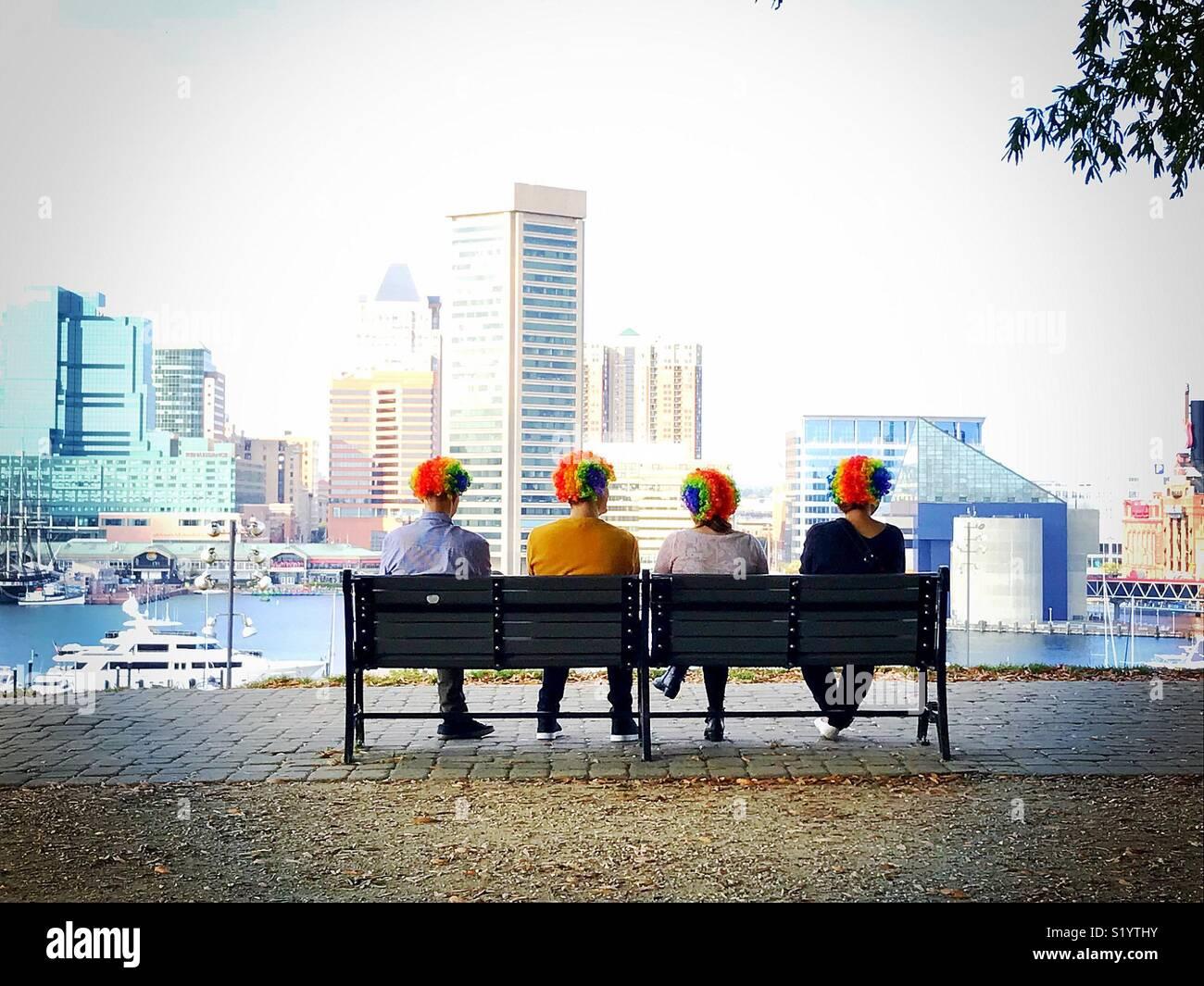 Payasos en Baltimore Imagen De Stock