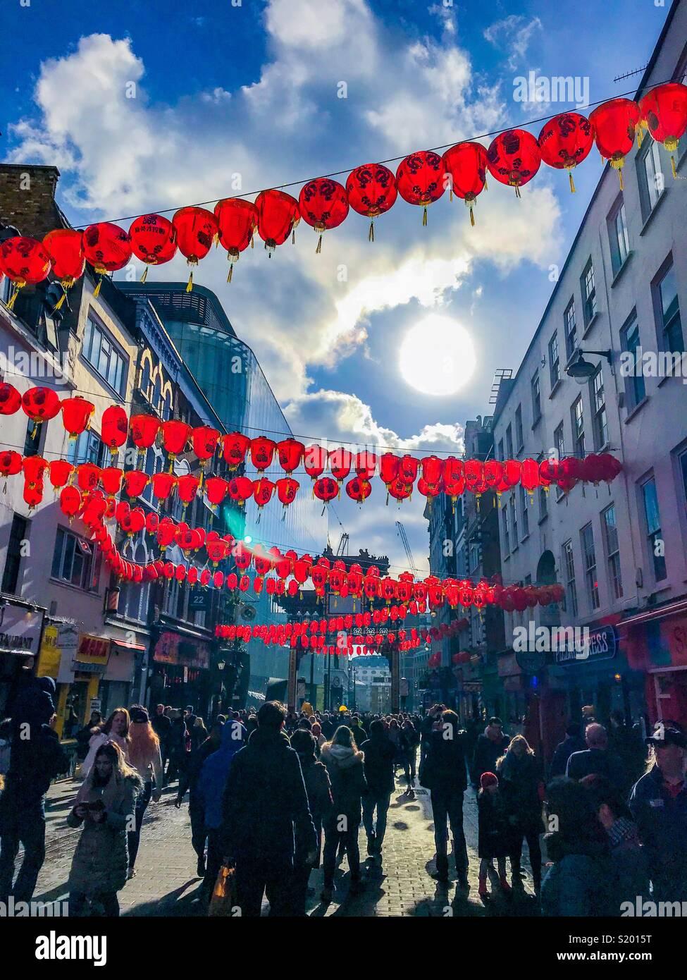 ChinaTown, Londres Imagen De Stock