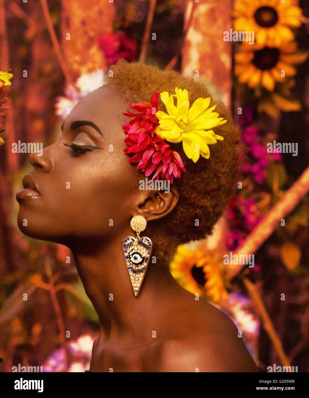 Flor mujer Imagen De Stock
