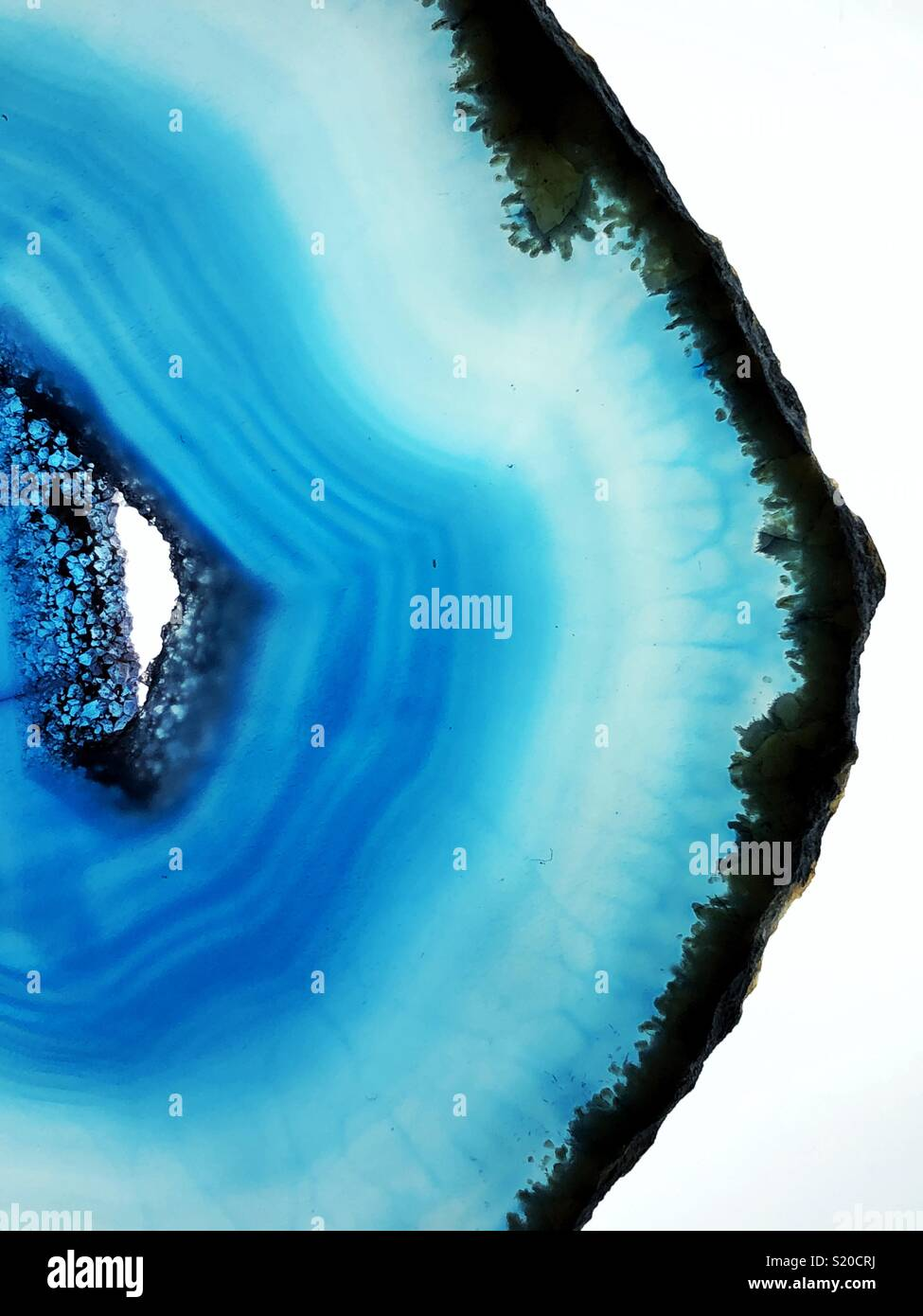 Acercamiento de ágata azul slice Imagen De Stock