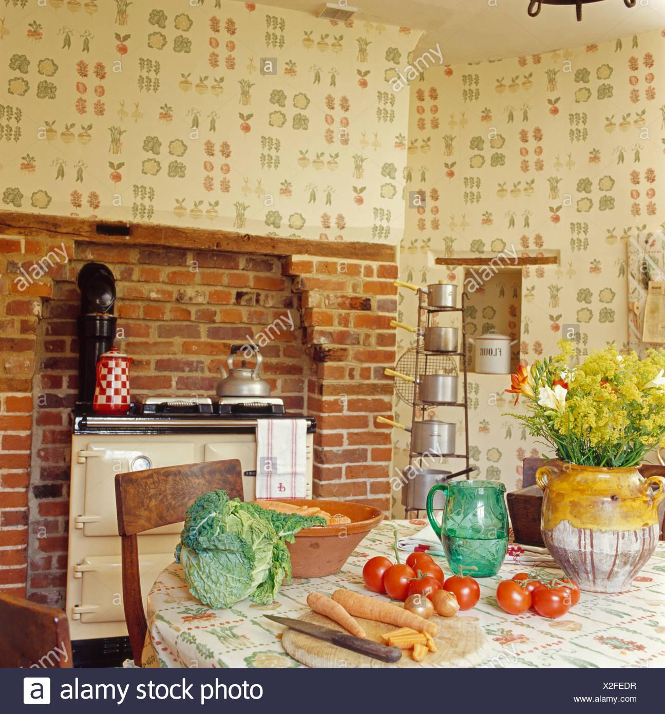 Hermosa País Insular Cocina De La Cabaña Ornamento - Ideas de ...
