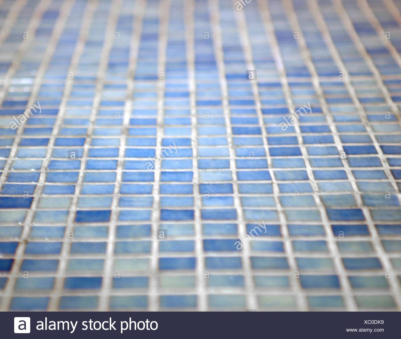 Piso De Mosaico Azul Piso Piso De Mosaico Baldosas Azulejos - Baldosas-y-azulejos