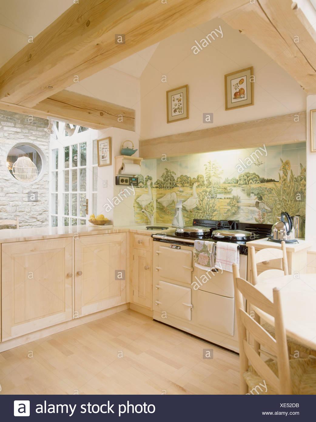 Cream Aga Oven In Country Imágenes De Stock & Cream Aga Oven In ...