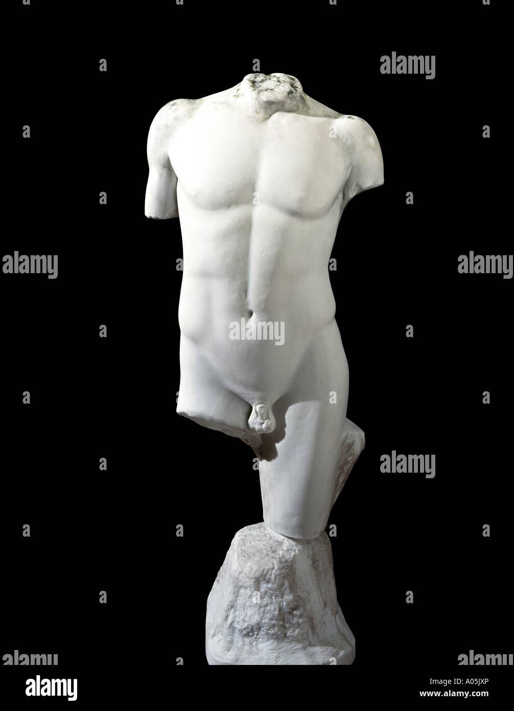 Une statue en marbre classique Photo Stock