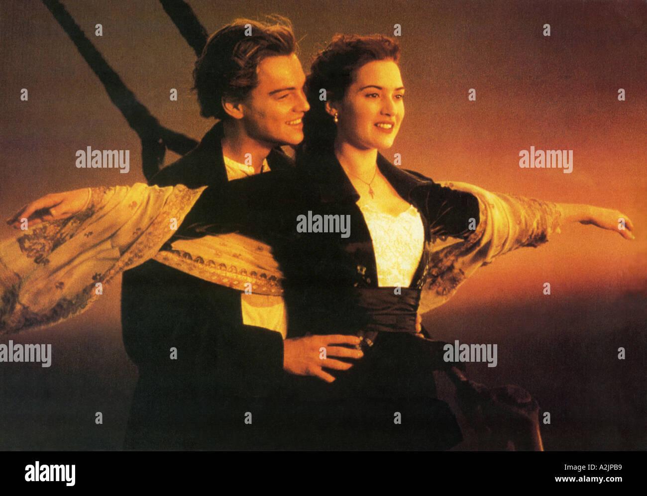 Oscar gagnant 1997 TITANIC film avec Leonardo DiCaprio et Kate Winslet Photo Stock