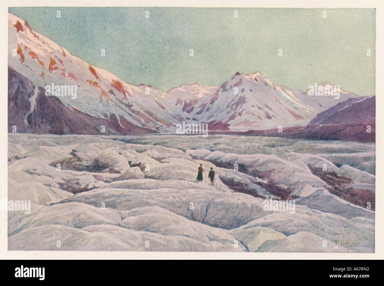 Glacier de Tasman Photo Stock