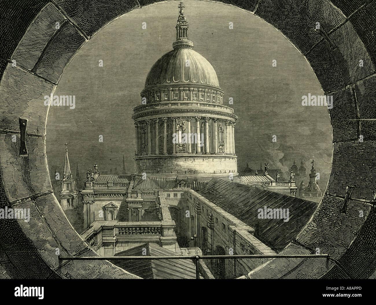 ST. Paul London, 1878 Photo Stock