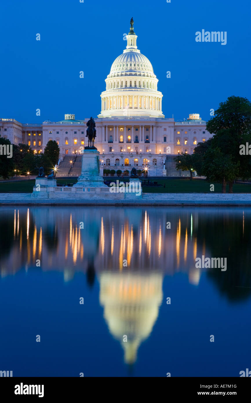 USA Washington DC, la construction d'immobilisations Photo Stock