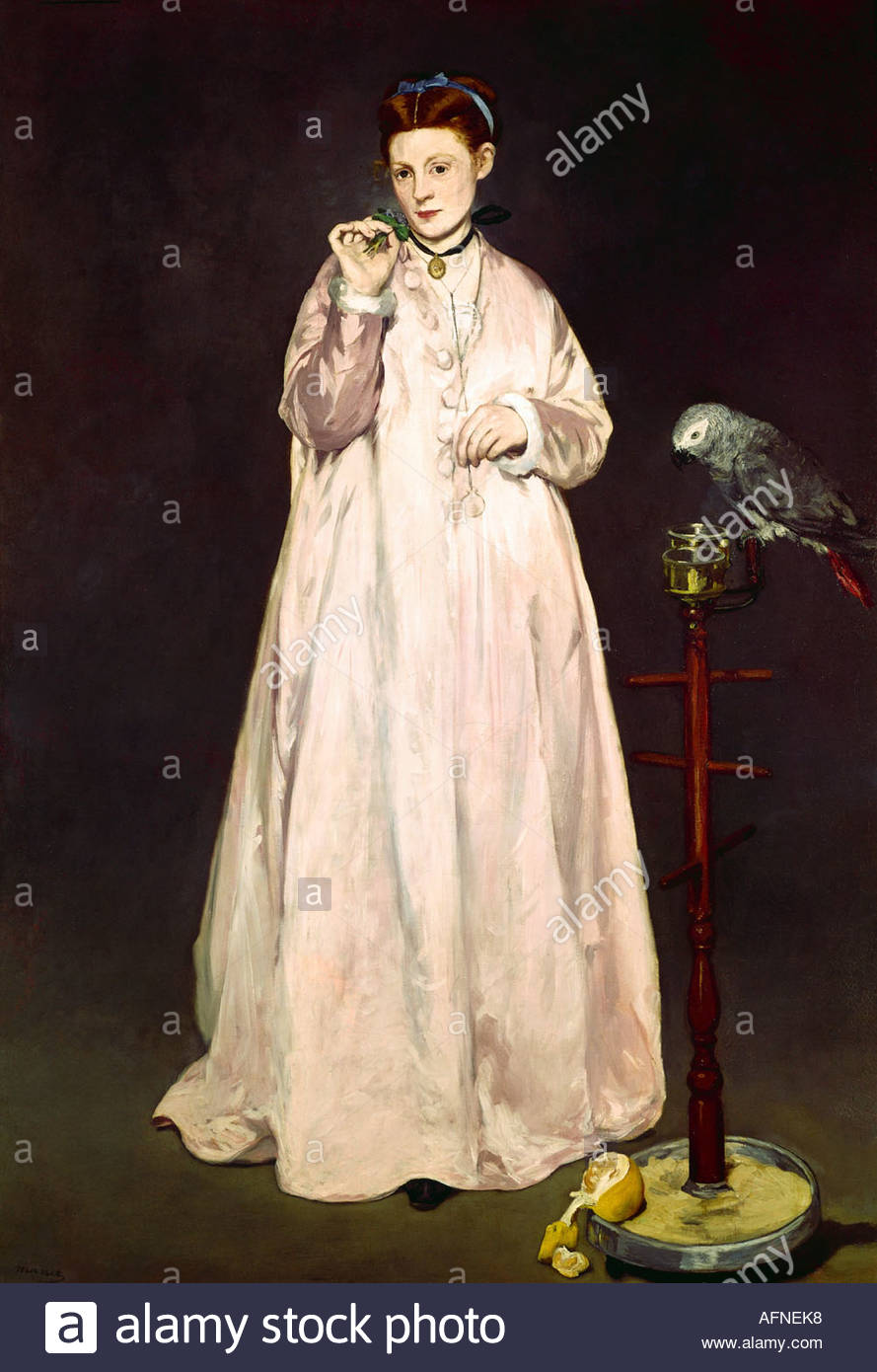 'Fine Arts, Manet, Édouard, (1832 - 1883), peinture, 'La Femme au perroquet', ('femme avec Photo Stock