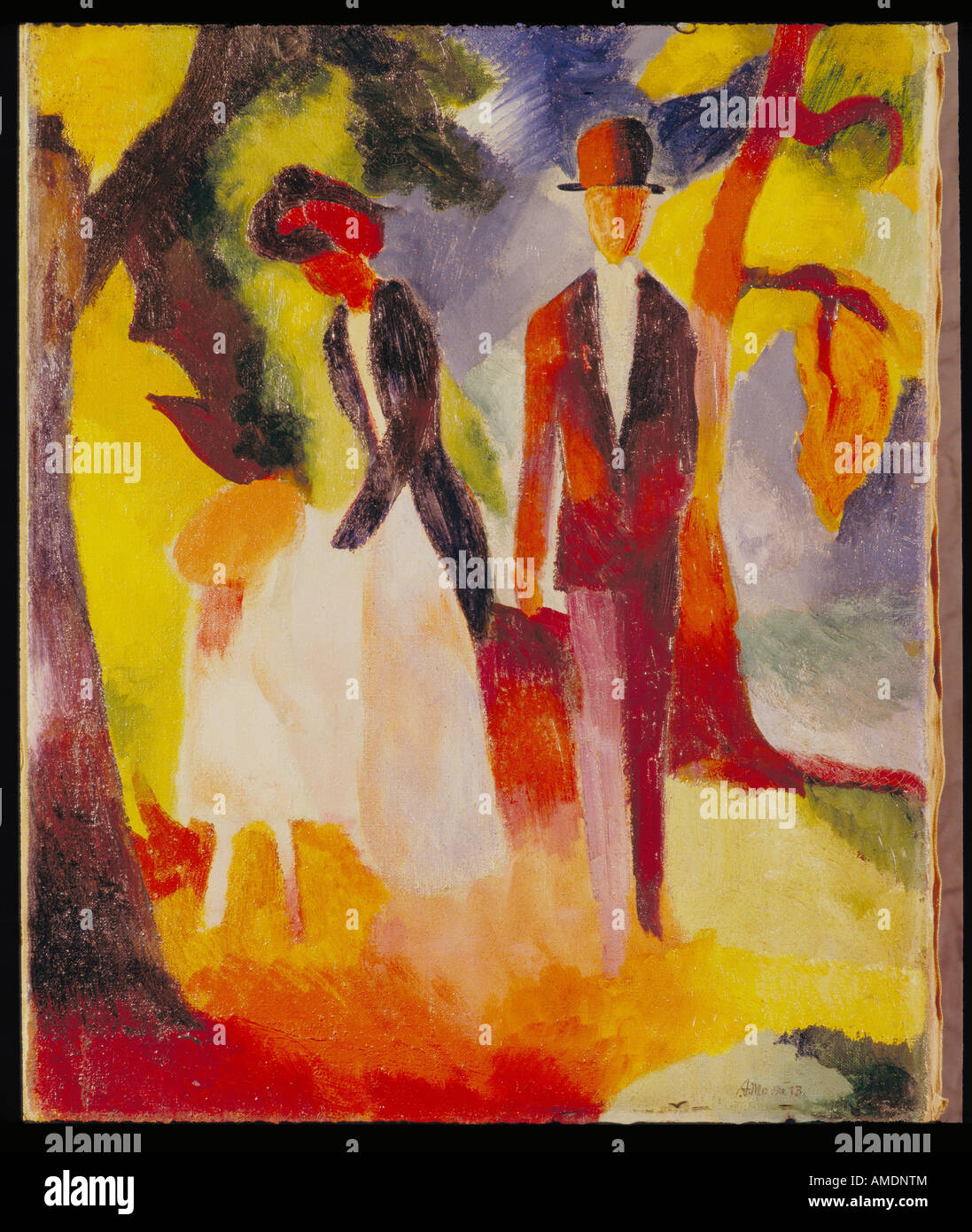 'Fine Arts, Macke, August, (3.1.1887 - 26.9.1914), peinture, 'Leute am blauen See', 'Les Gens au Photo Stock