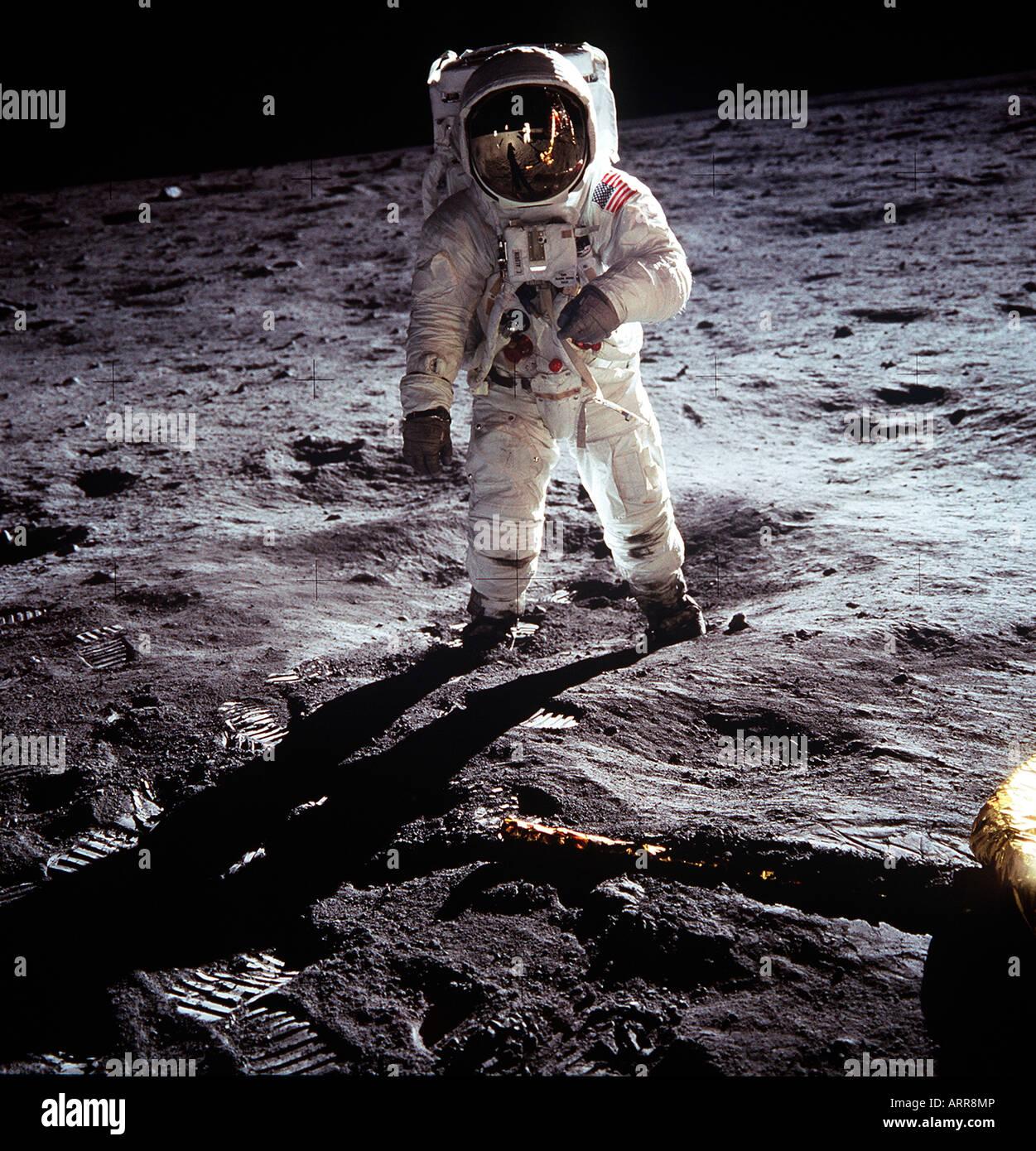 L'astronaute américain Neil Armstrong, de l'alunissage d'Apollo 11 de la NASA Photo Stock