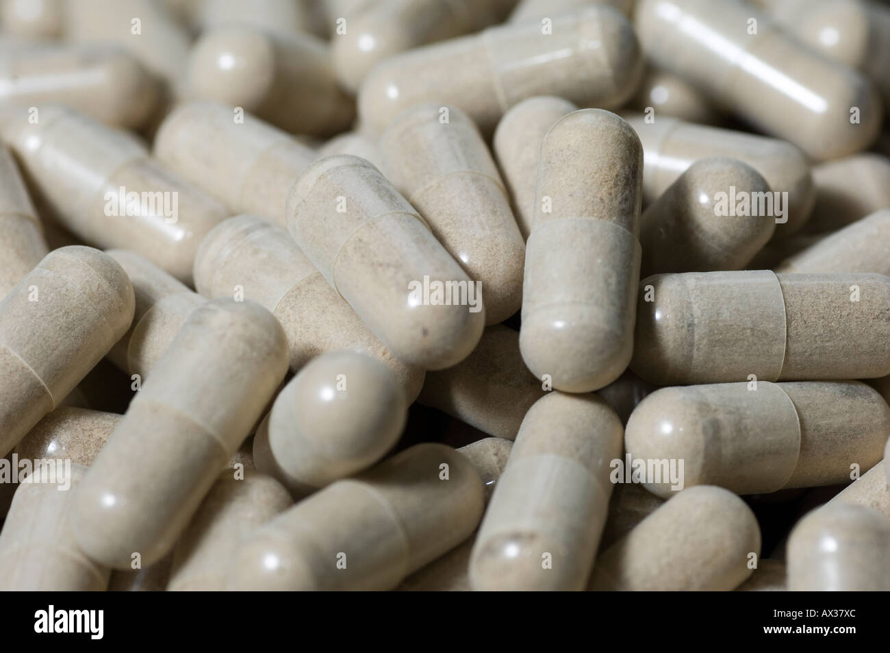Close up of white pills Photo Stock