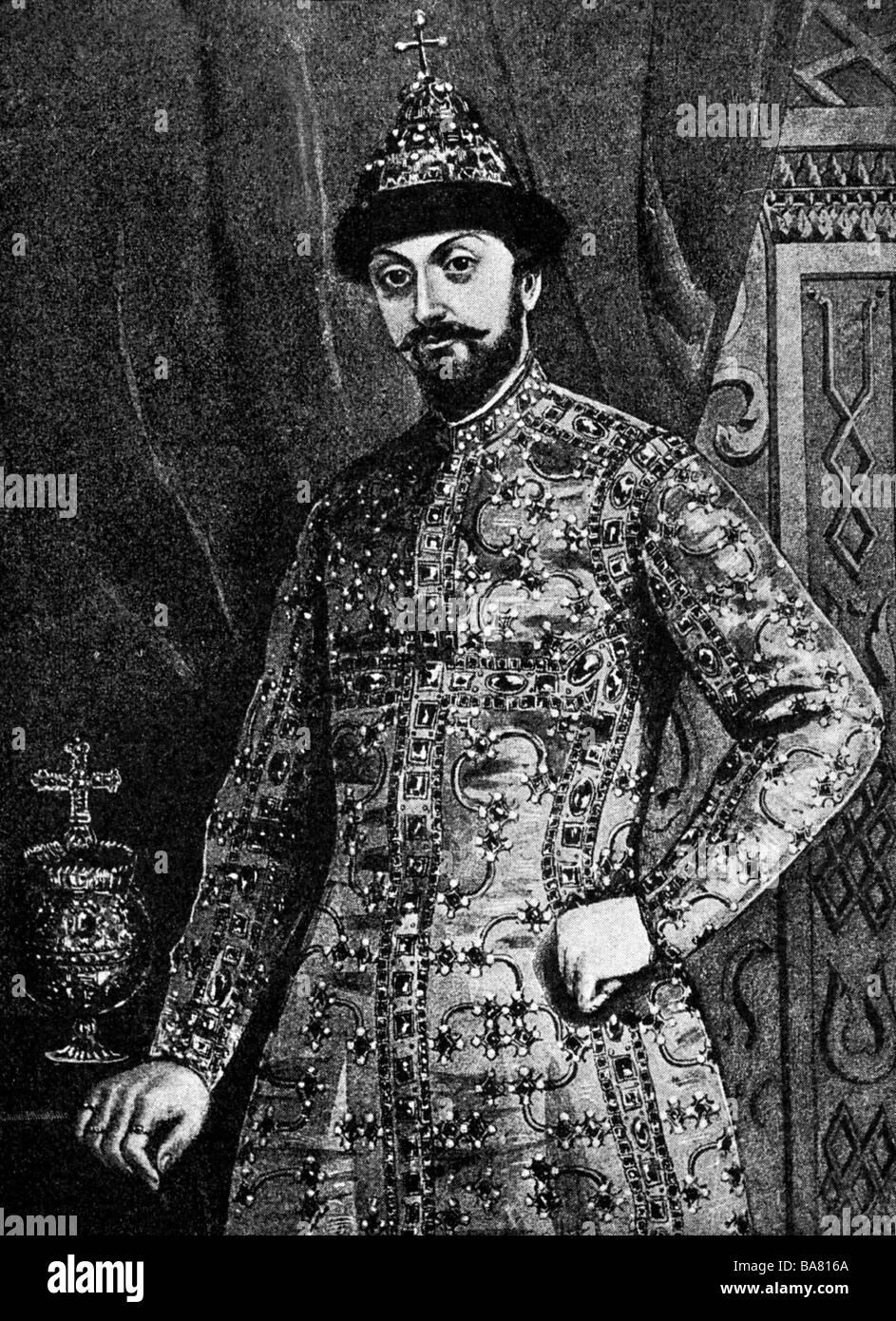 Feodor III Alexeevich, 30.5.1661 - 27.4.1682, af Tsar de toute la Russie depuis le 29.1.1676, demi-longueur, après Photo Stock