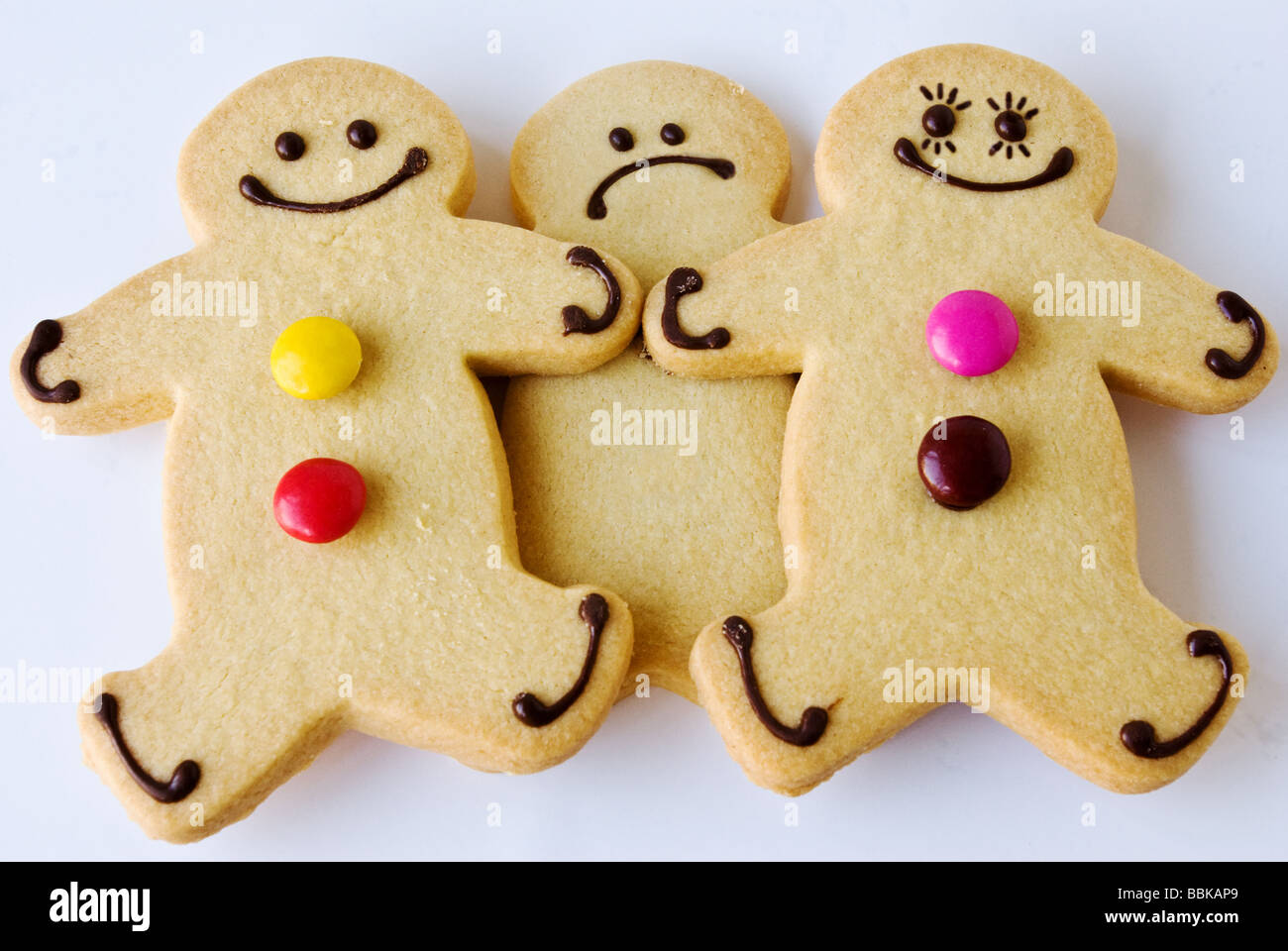 Un jaloux Gingerbread Man Photo Stock