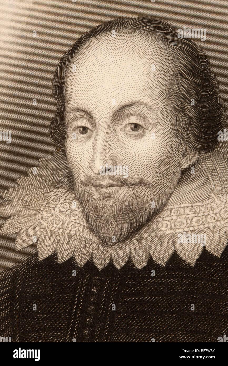 William Shakespeare, de 1564 à 1616. Anglais, poète, dramaturge, acteur et dramaturge. Photo Stock