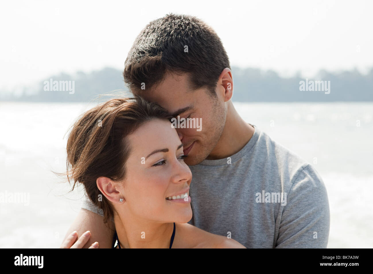 Couple d'amoureux de la mer Photo Stock