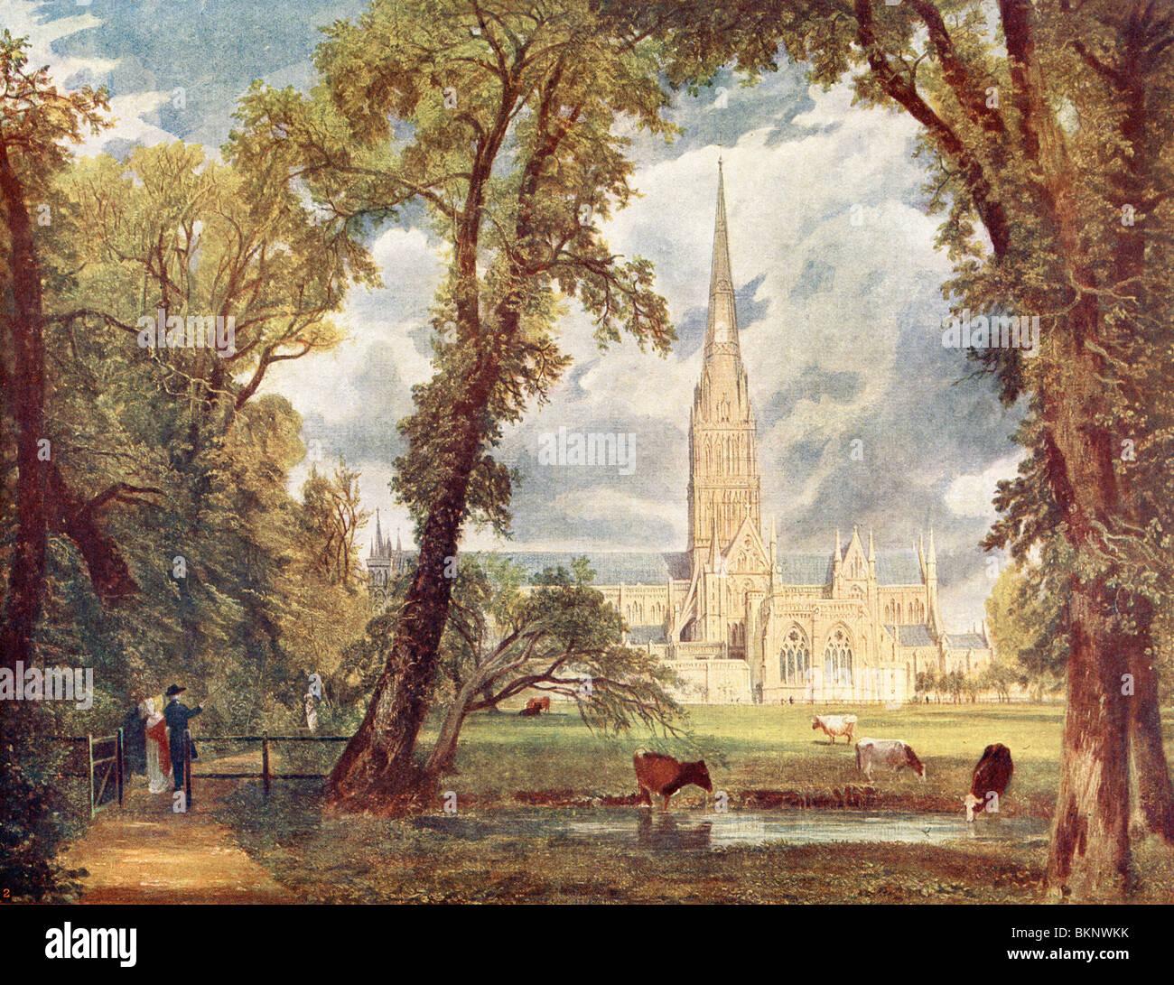 La cathédrale de Salisbury Photo Stock