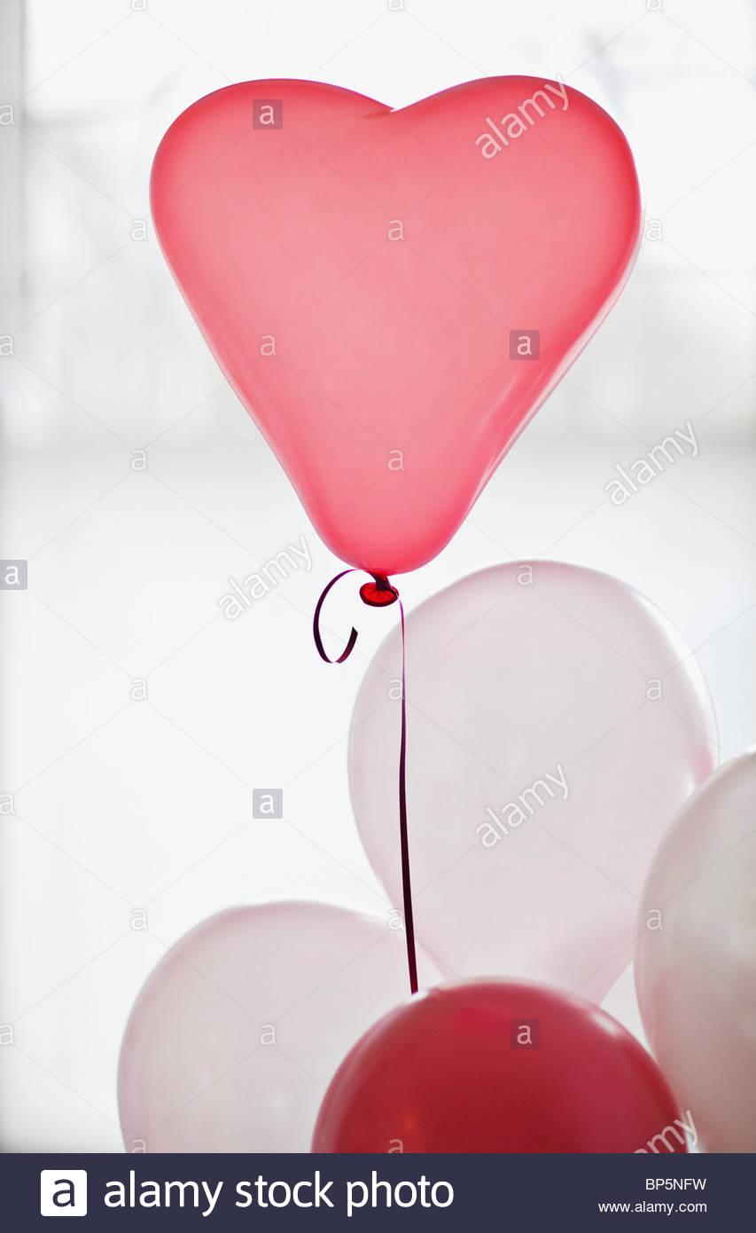 Ballon en forme de coeur Photo Stock