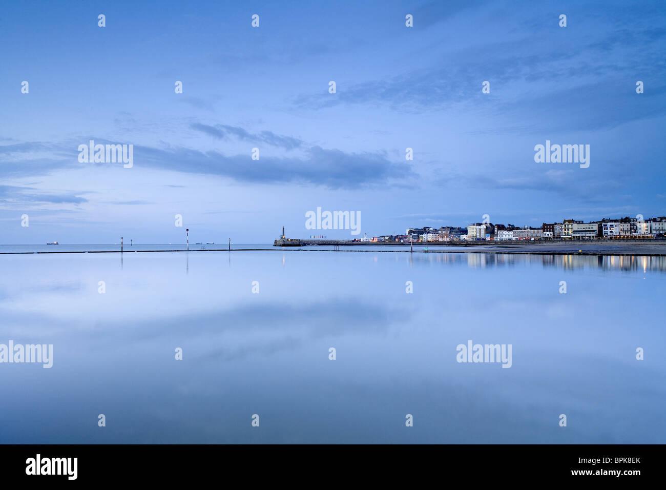 Ville balnéaire de Margate, Kent, Angleterre, Grande-Bretagne, Europe Photo Stock
