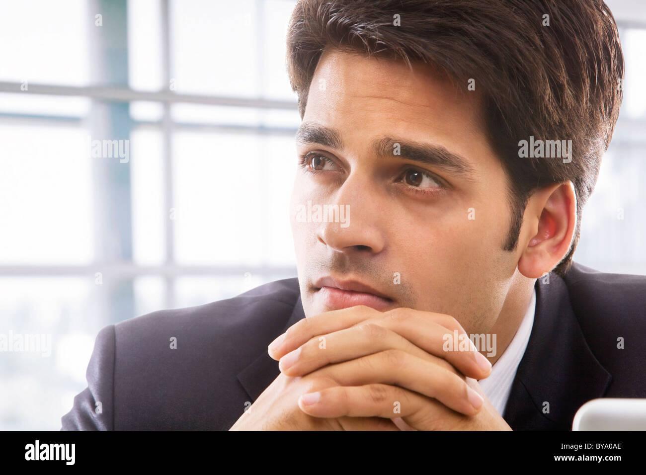 Businessman thinking Photo Stock