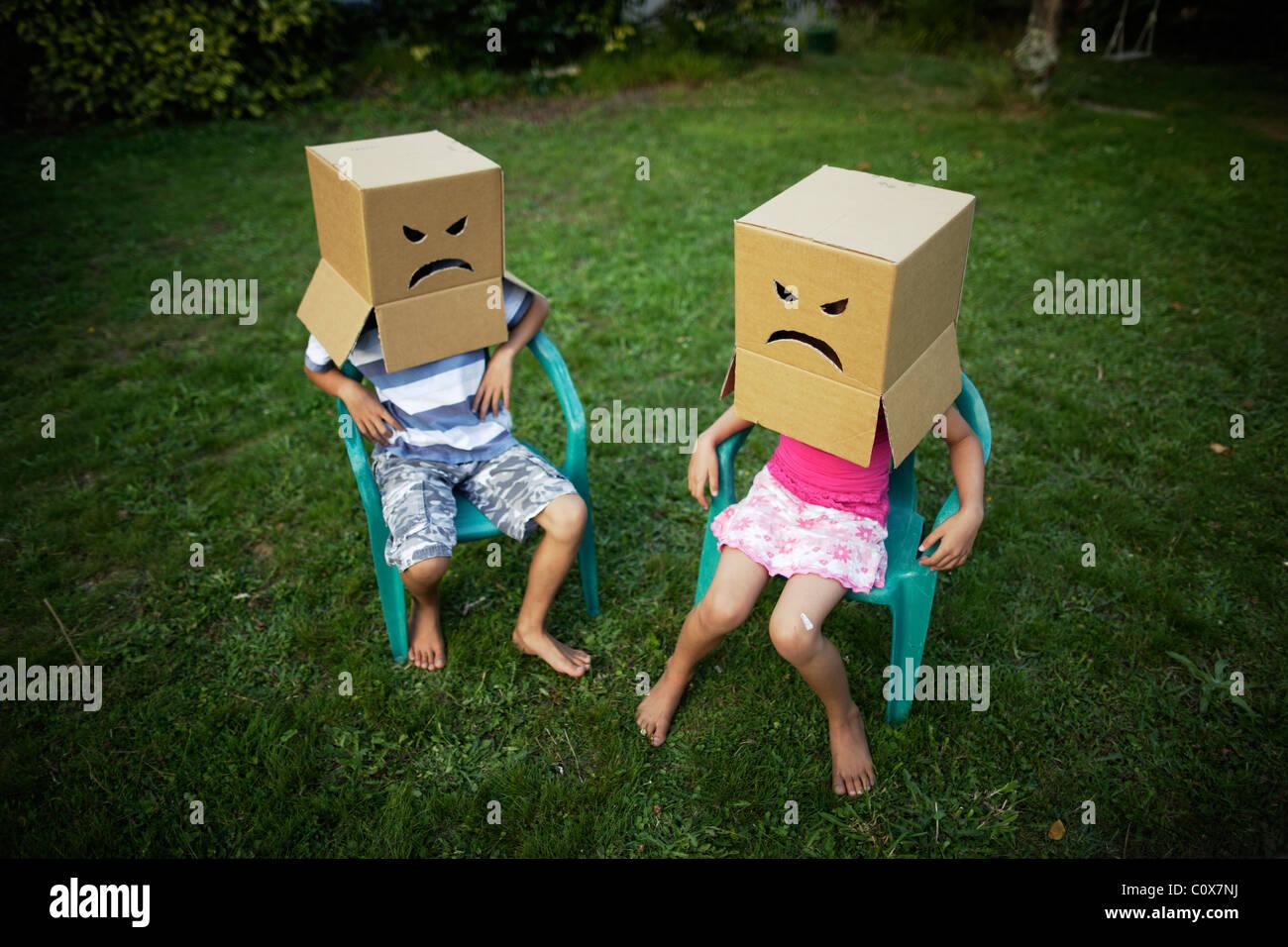 Visages en colère Photo Stock
