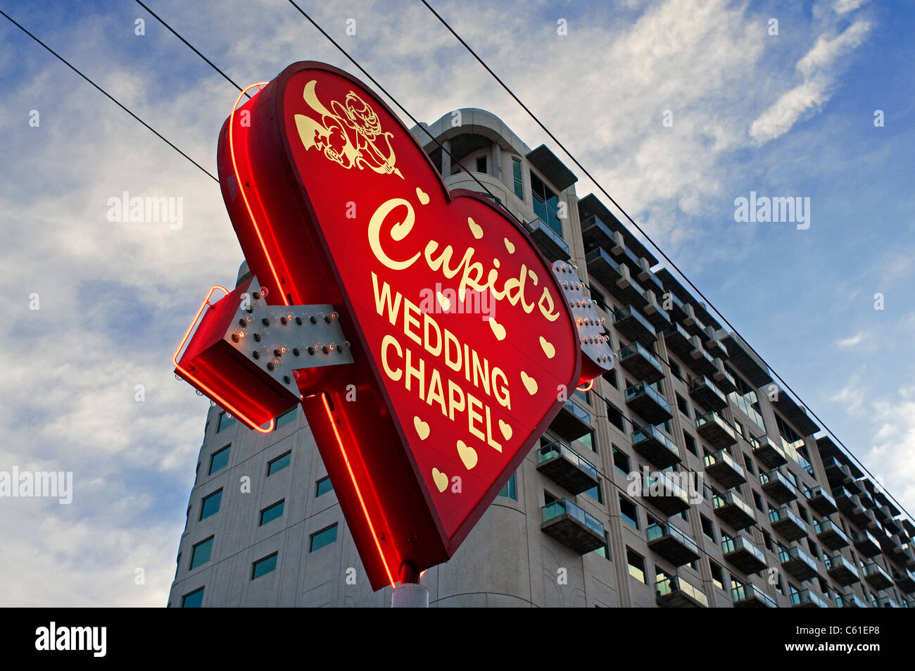 Cupids chapelle de mariage de Las Vegas NV Nevada Photo Stock