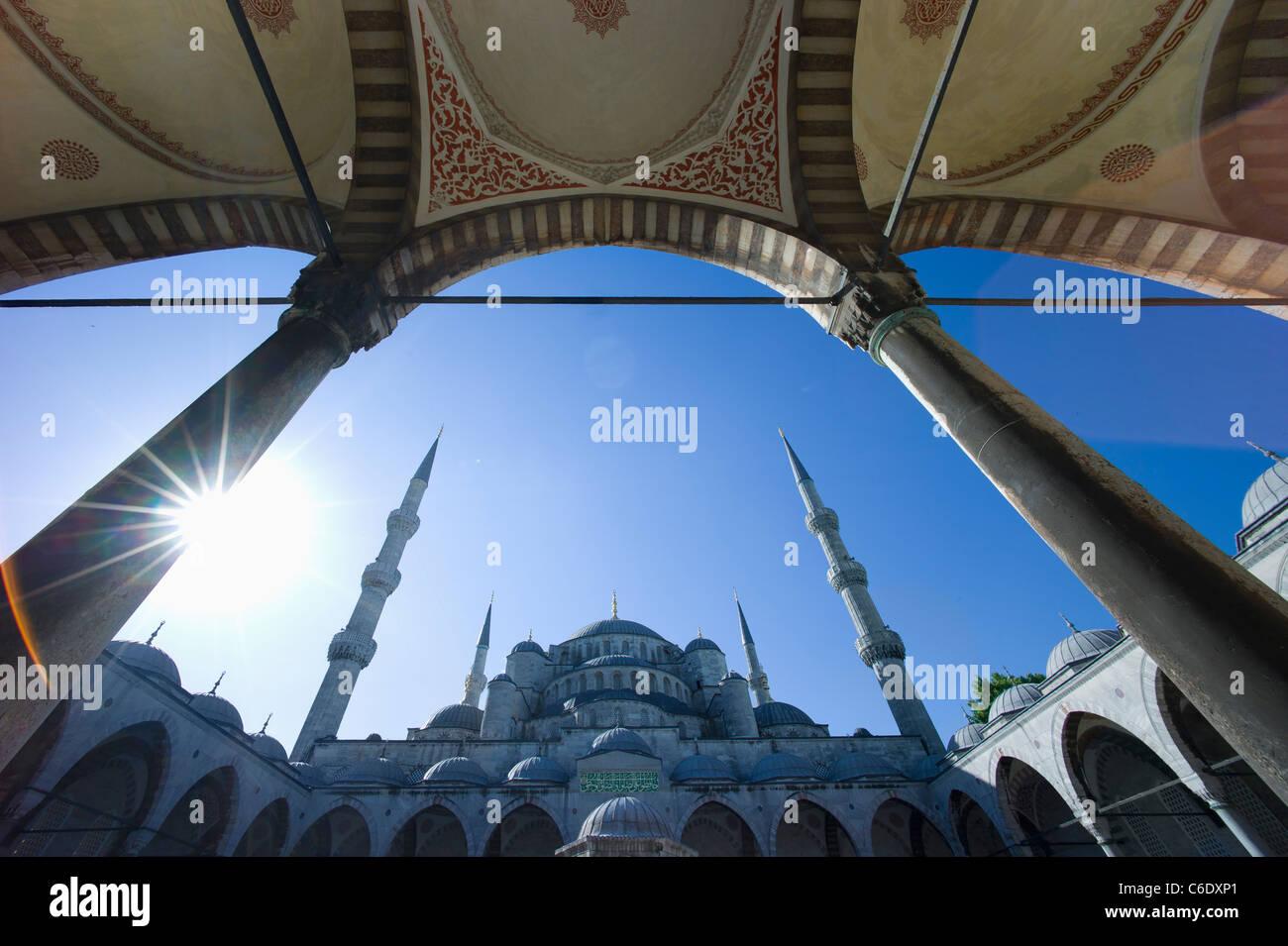 La Turquie, Istanbul, Mosquée Bleue Photo Stock