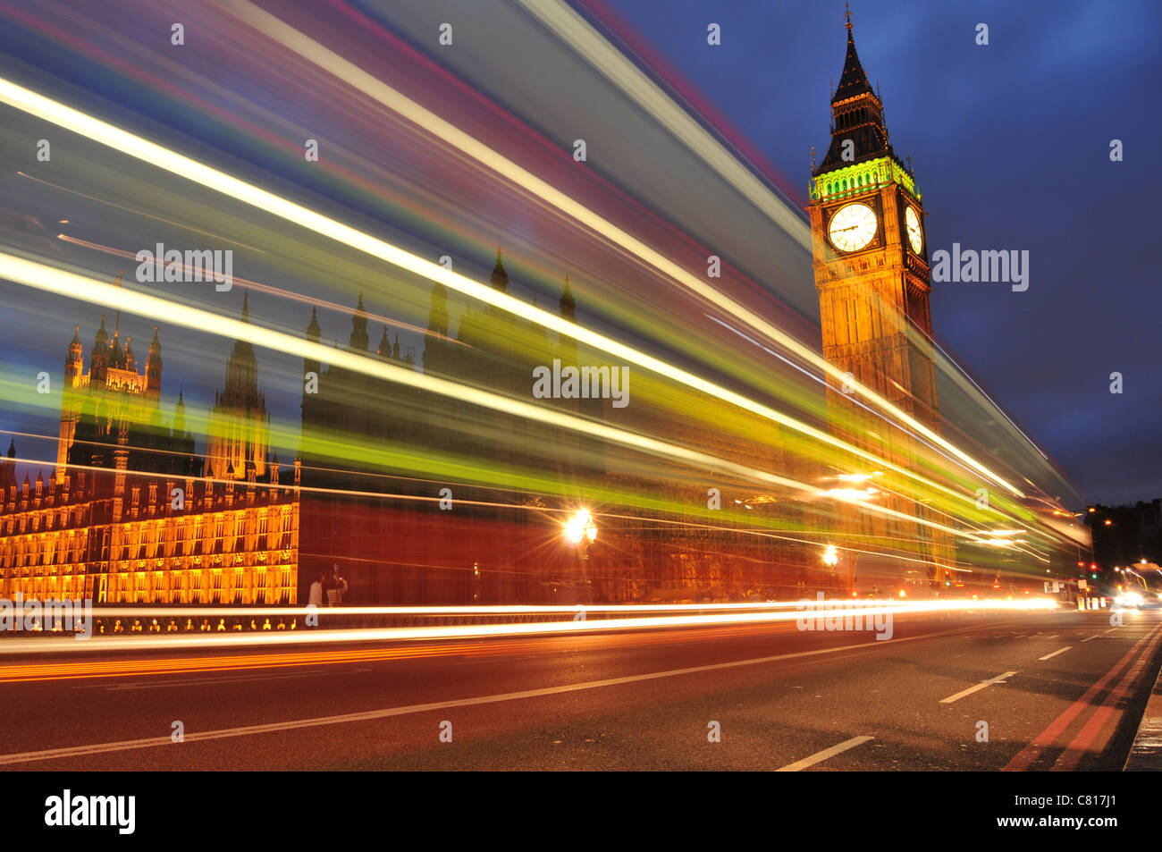 Londres de nuit Photo Stock
