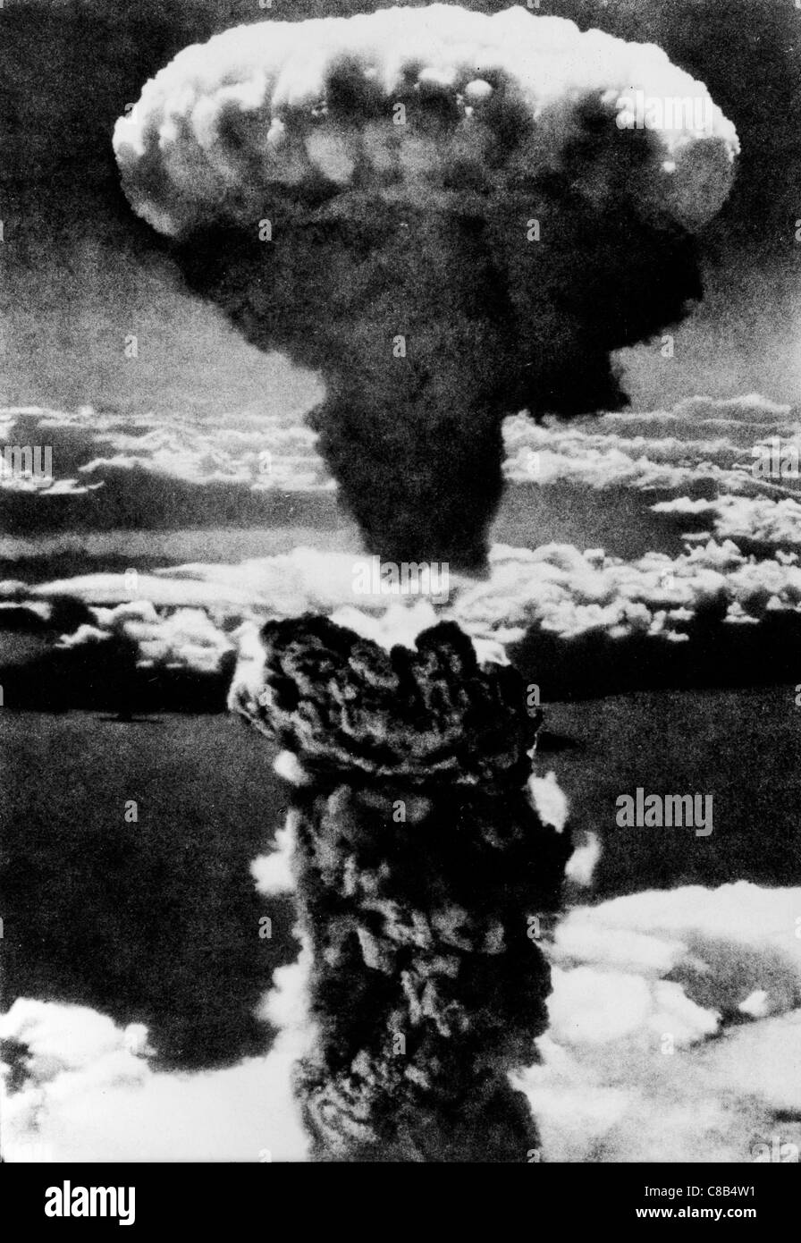 Explosion atomique à Hiroshima,1945 Photo Stock
