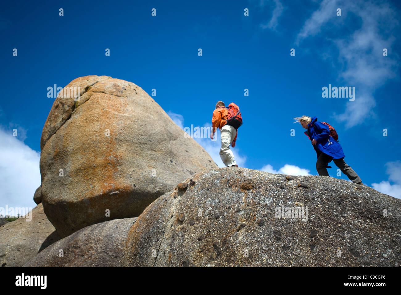 Les roches de granit, Whisky Bay, Wilsons Promontory National Park, Victoria, Australie Photo Stock