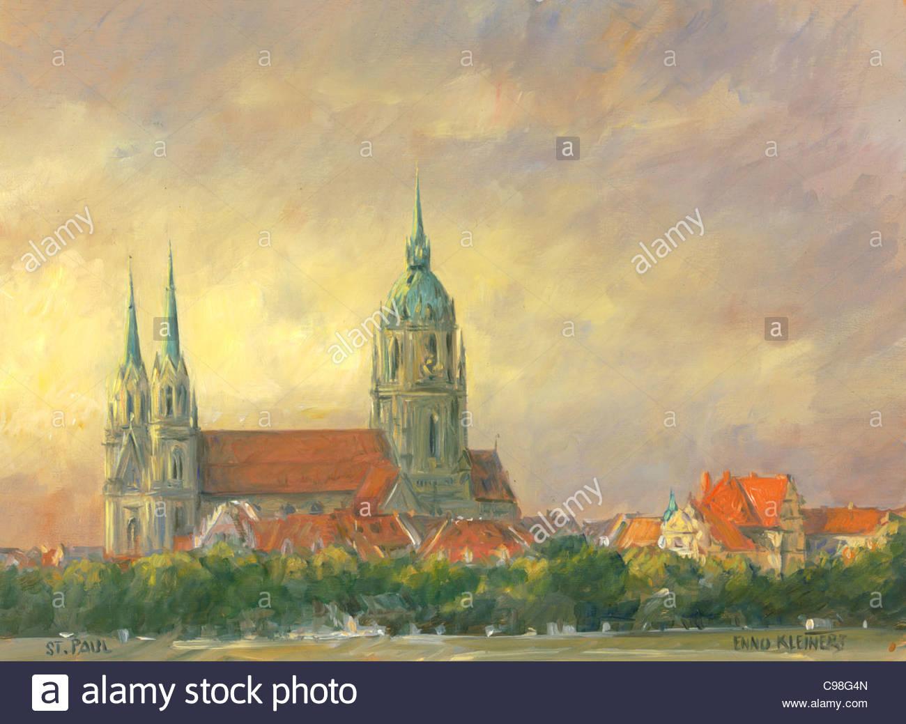 Munich série Eglise Saint-Paul Photo Stock
