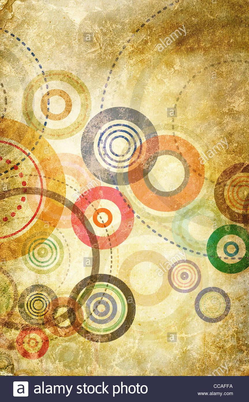 Texture cercle abstrait Banque D'Images