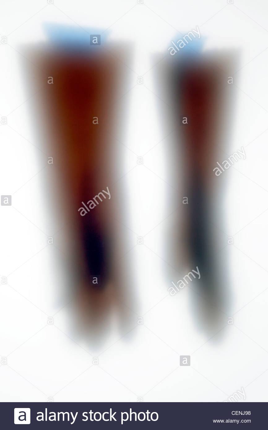 Aperçu de la bande bleu avec des gants de travail Photo Stock